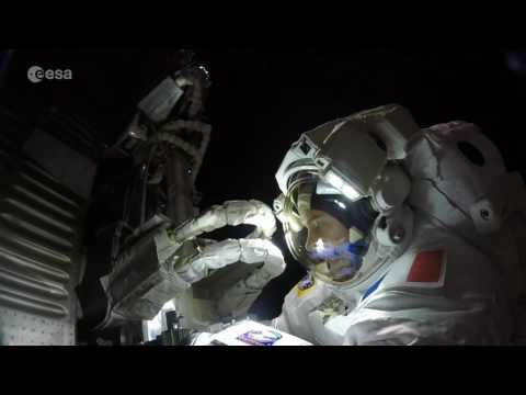 Station spacewalk (GoPro footage hyperlapse)
