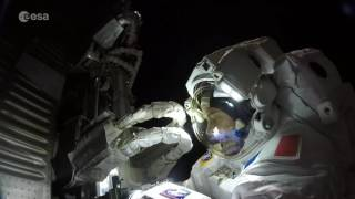 Station spacewalk (GoPro footage hyperlapse)