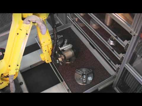 Robotic Machining System Features Automated Changeover for Workholding & Parts - Gosiger