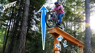 Adjustable MTB Drop Build and Ride! // From a Blue Feature to Black in No Time