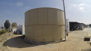 Superior Tank: Bolted Steel Tank Installation Time Lapse at Fuji Foods!