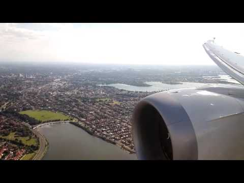 Landing at Sydney Kingsford Smith Airport SYD -- Air New-Zealand Boeing 787-9