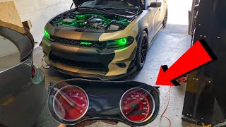 THIS DODGE CHARGER SCATPACK GETS CUSTOM RED GAUGES INSTALLED!