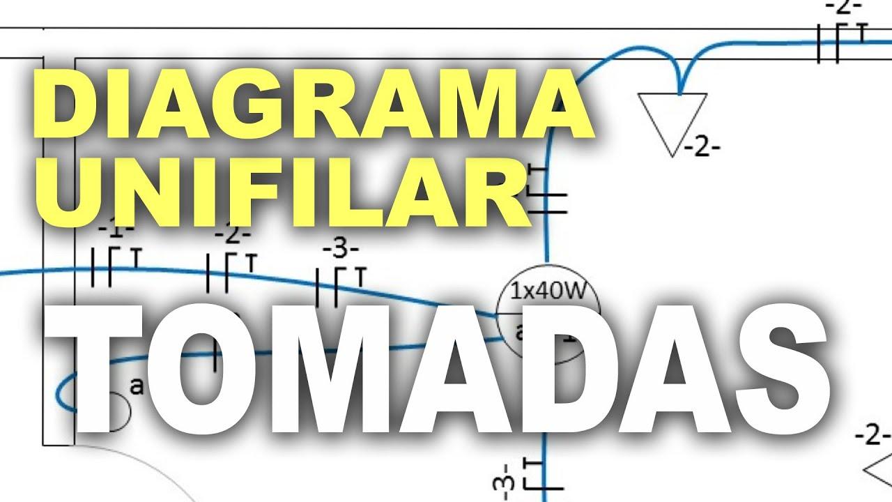 Circuito Unifilar : Circuito de tomadas em diagrama unifilar youtube