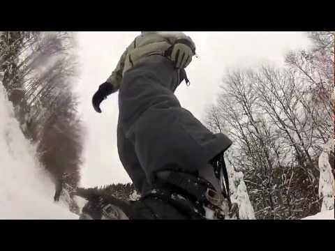 Snowboarding in Sovata, Romania, December 15th, 2012