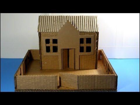 como hacer una casa de cartn  cardboard house  YouTube