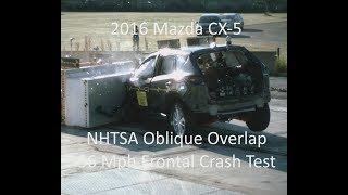 2014-2017 Mazda CX-5 NHTSA Oblique Overlap Frontal Crash Test (56 Mph)