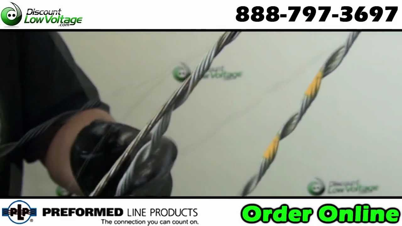 Dead End Guy Grips For Copper Telephone And Fiber Cable