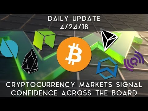 Daily Update (4/24/2018) | Cryptocurrency markets signal confidence across the board
