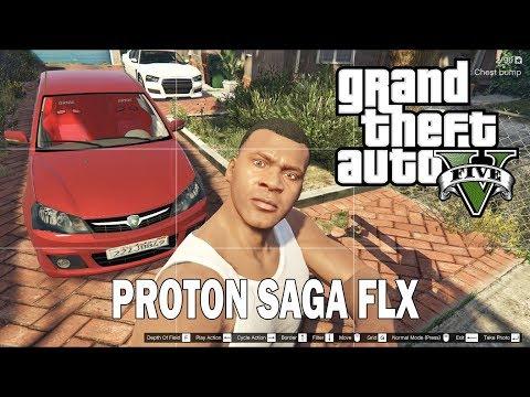 GTA 5 Proton Saga FLX Kereta Kesayangan Ku