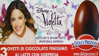 3 Violetta Disney Special Surprise Chocolate Eggs Huevos Ovetti Dolci Preziosi Unboxing