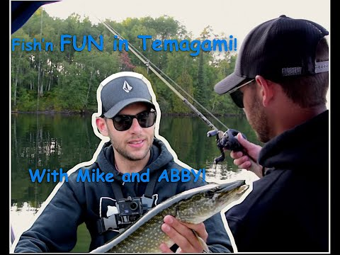 Lake Temagami Bass Fishing With Mike And Abby! (Feat. Fish Temagami)