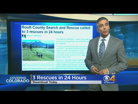 Routt County Search Crews Called Out 3 Times In 24 Hours