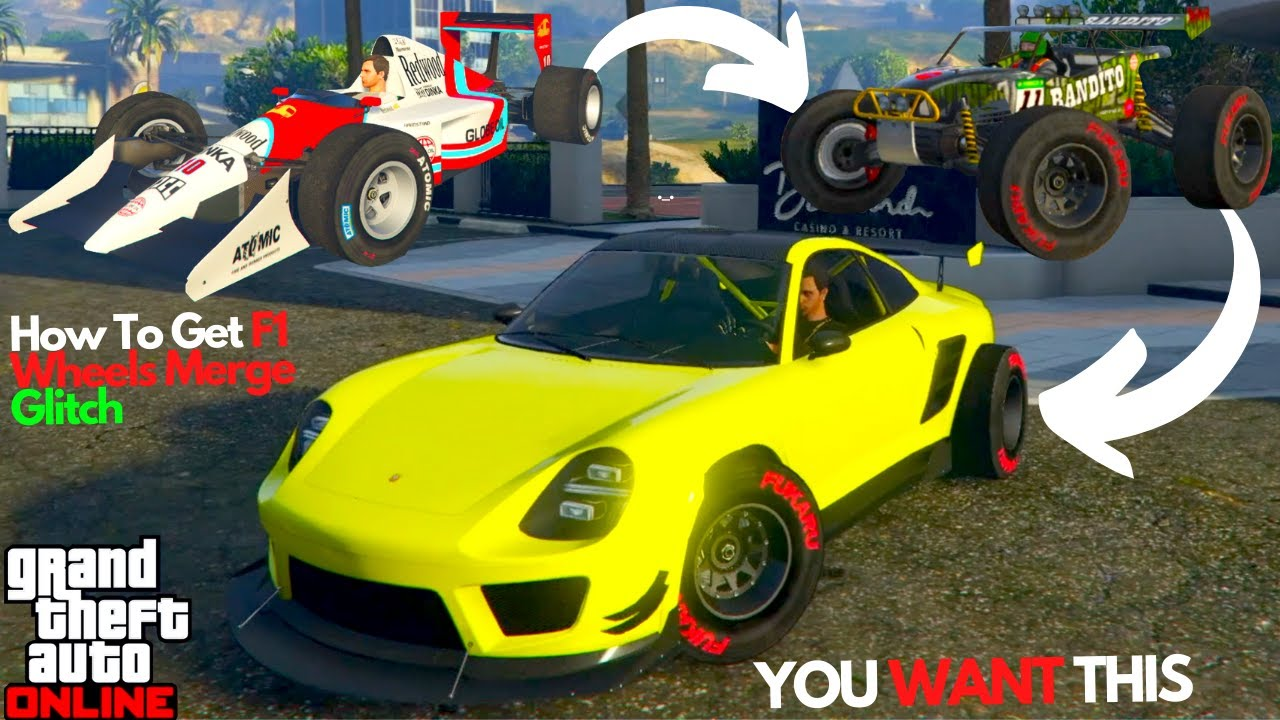 How To Get F1 Tires Wheels On Supercars Gta Online Car Merge Glitch Youtube