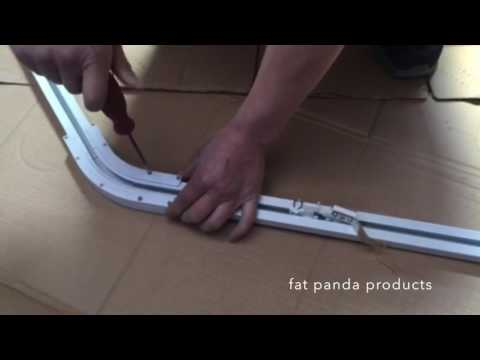 How to install a motorised curtain track for bay windows