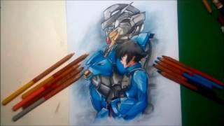 Mobile Suit Gundam 00 : Speed Drawing Setsuna F. Seiei (刹那・F・セイエイ)