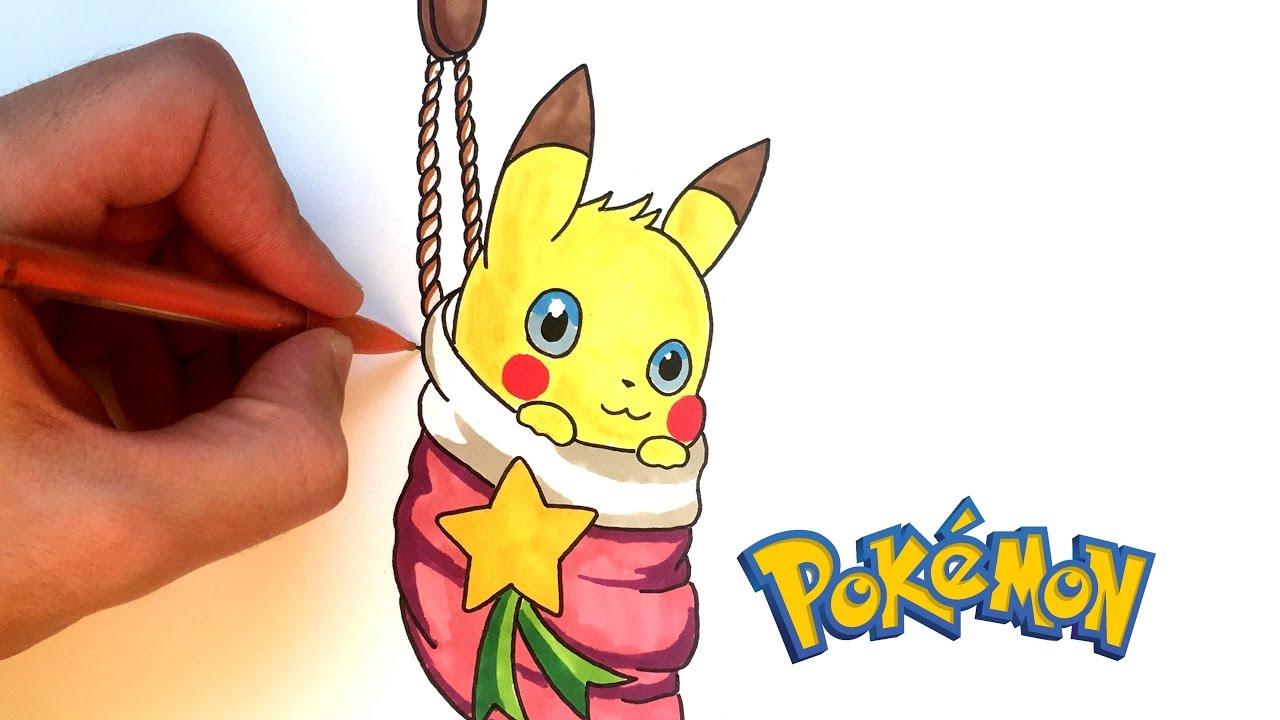 DESSIN PIKACHU pour Noel - Pokémon - YouTube