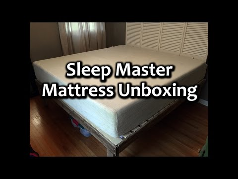 Sleep Master 12-Inch Pressure Relief Memory Foam Mattress unboxing