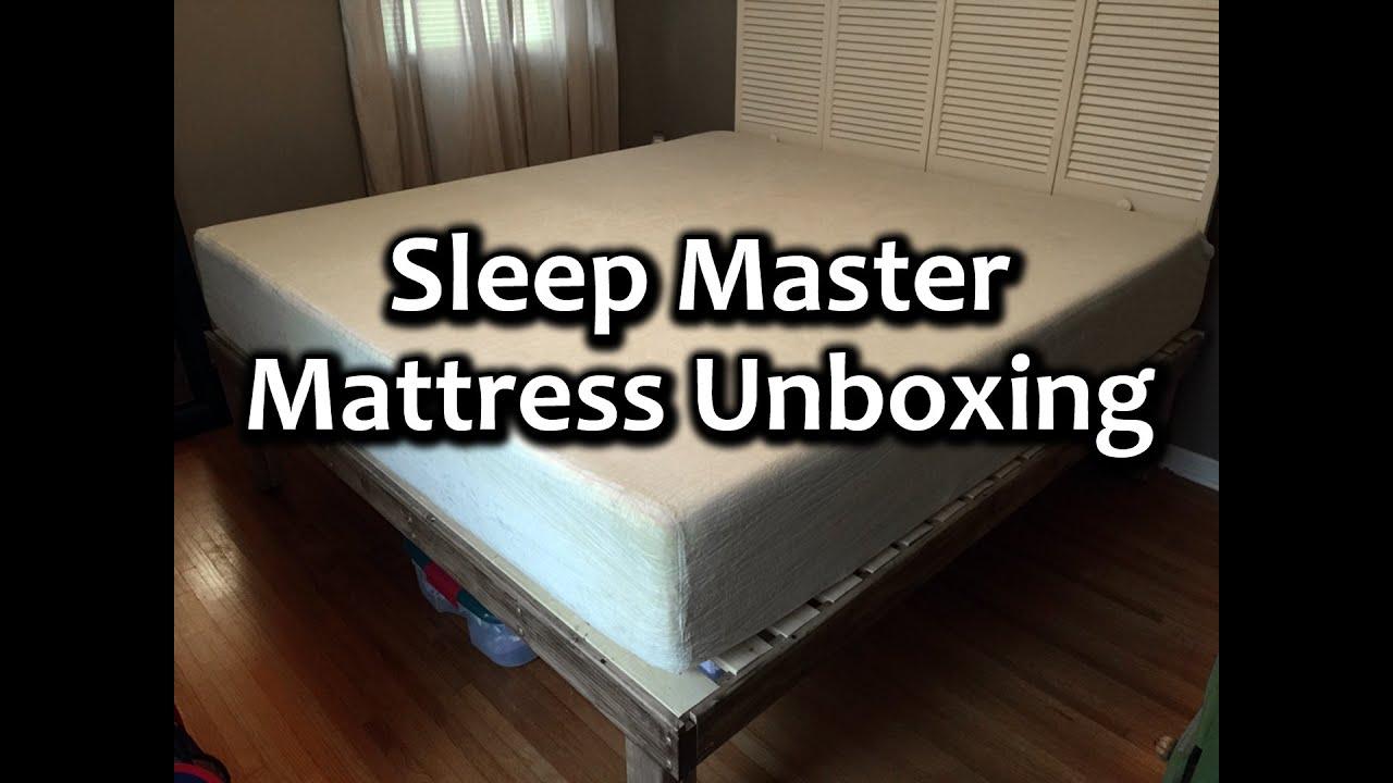 Sleep Master 12 Inch Pressure Relief Memory Foam Mattress unboxing
