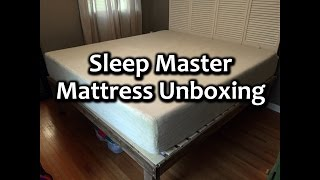 Sleep Master 12-Inch Pressure Relief Memory Foam Mattress unboxing(, 2015-04-18T22:29:50.000Z)