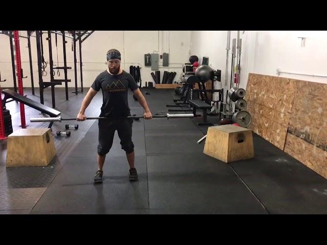 BB Wide Grip Bent-Over High Row