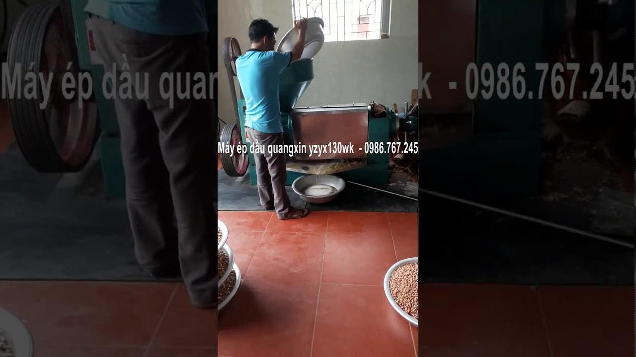 Máy ép dầu lạc Guangxin YZYX130 công suất 150kg/h - YouTube