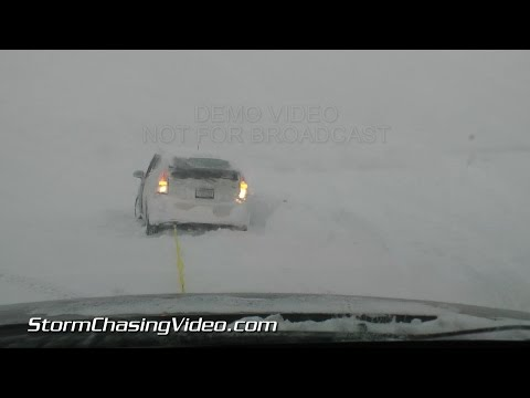 11/18/2014 East Aurora, NY Stranded Cars Lake Effect Snow B-Roll