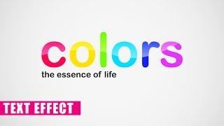 Comment faire Coloré Effet de Texte dans Photoshop CC, CS6 et Photoshop Effets de Texte Tutoriel