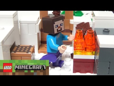 THE SNOW HIDEOUT LEGO MINECRAFT Set 21120 Unboxing Review