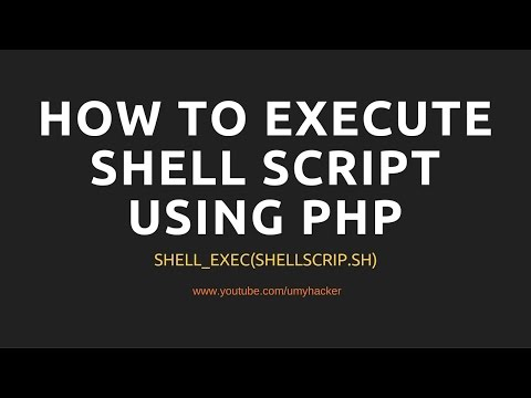 How To Execute Shell Script Using Php In Ubuntu