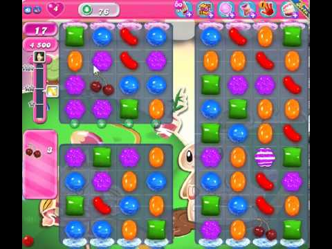Candy Crush Saga Level 76 - 2 Star - no boosters