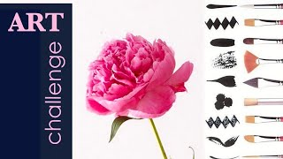 DIY How to PAINT FLOWERS. FREE painting lessons No 5. Watercolor PEONY / Artist Jarova