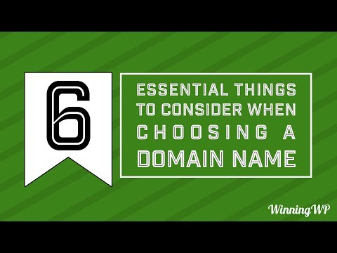 Six Essential Tips for Choosing A Domain Name!