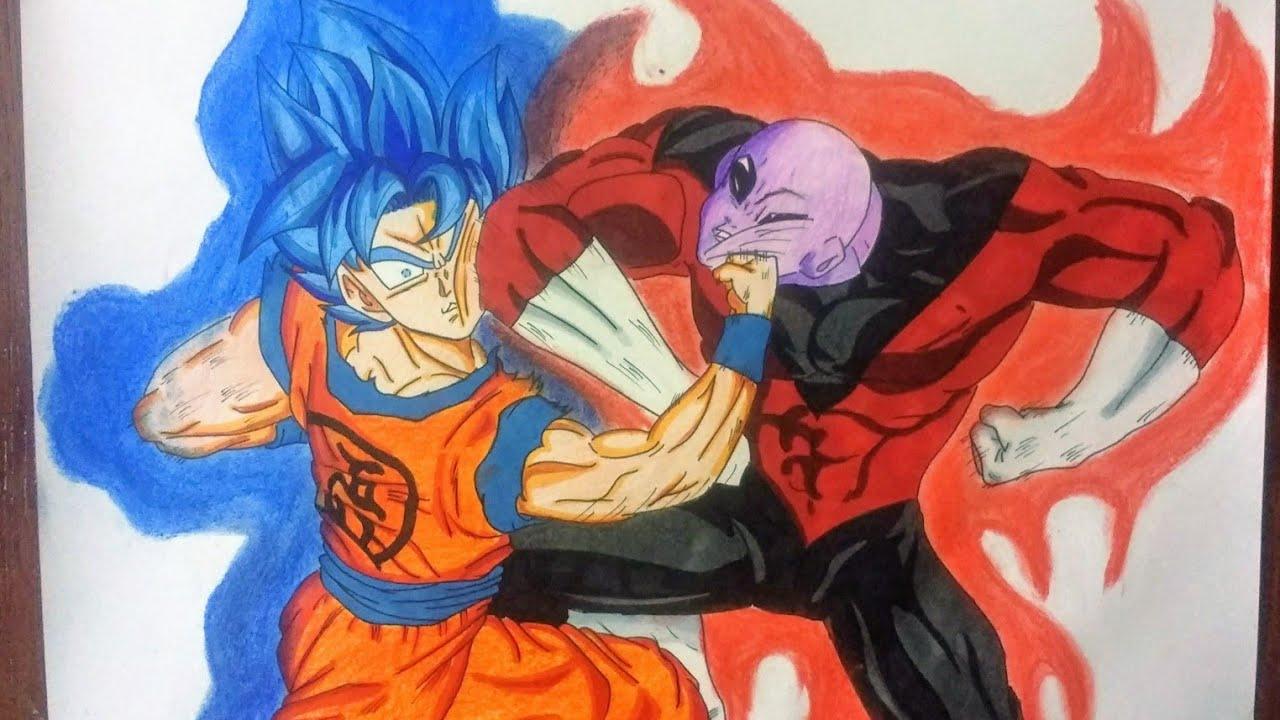 Como Dibujar A Goku Vs Jiren