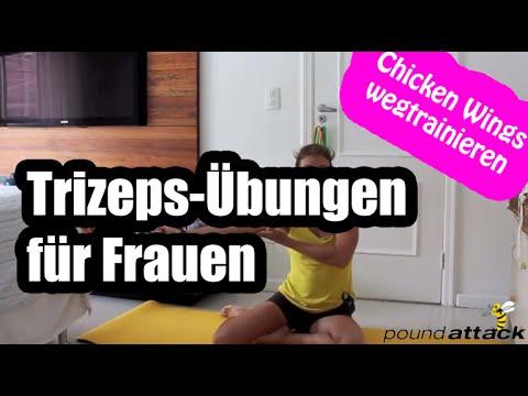 Trizeps Übungen für Frauen - Training gegen