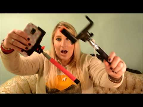 ptdc wired and bluetooth selfie stick review youtube. Black Bedroom Furniture Sets. Home Design Ideas