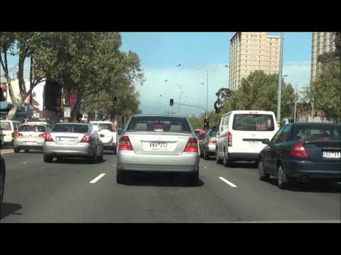 Driving to Melbourne CBD via Eastern Freeway