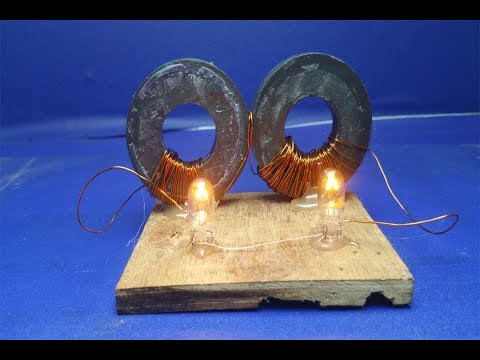Free energy light bulb 12V with magnets easy at home - Science projects 2018