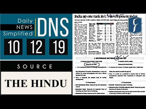 Daily News Simplified 10-12-19 (The Hindu Newspaper - Current Affairs - Analysis For UPSC/IAS Exam)
