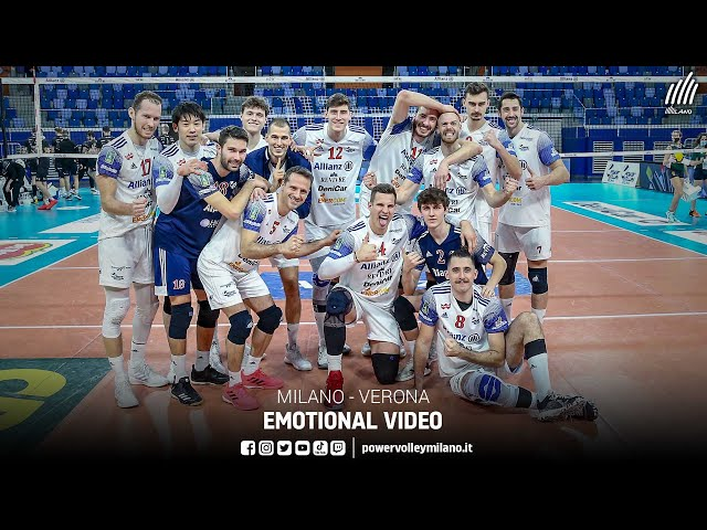 Superlega, emotional video Milano - Verona