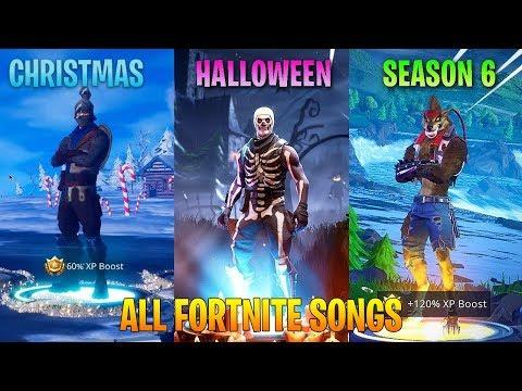 ALL FORTNITE THEME SONGS! (Season 1, Halloween, Christmas, Season 6)