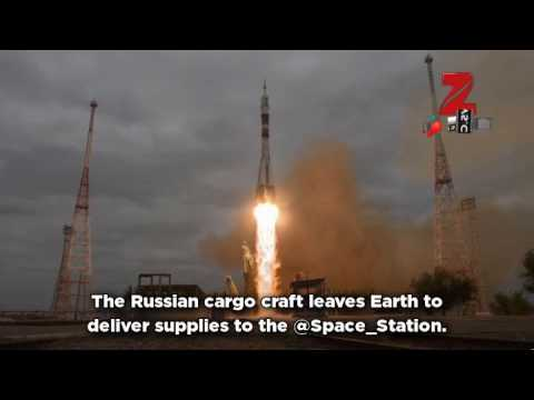 Russian cargo spacecraft heads to space station after successful liftoff