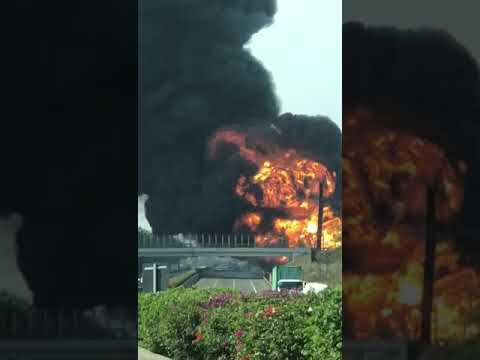 Video Kebakaran Pipa Pertamina di Cimahi