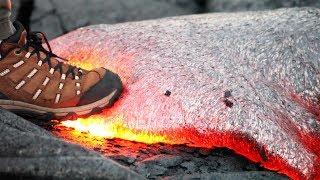 Was würde passieren, wenn Du auf heiße Lava treten würdest?