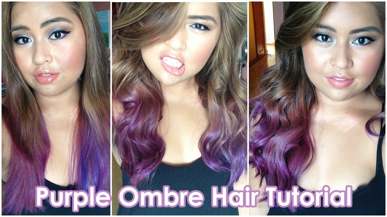 Purple ombre hair tutorial bella rodriguez youtube baditri Images