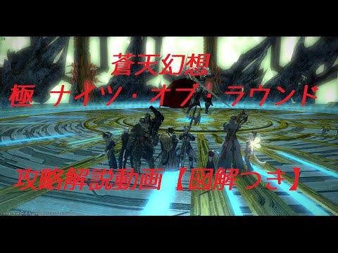 FF14 極ナイツ・オブ・ラウンド討滅戦 攻略解説動画【BGMのみ】