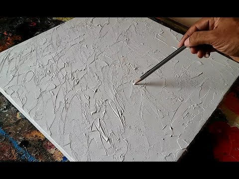 How To Texture Canvas / Texturing Canvas With GESSO For Abstract Painting / Demonstration