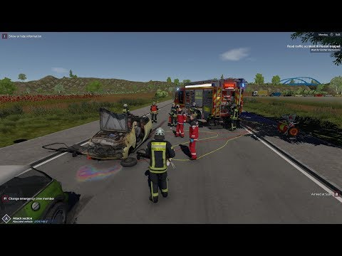 Emergency 112 The Firefighting Simulation - Serious Crash far away from Fire Station