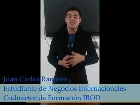 Juan Carlos Ramirez Estudiante de Negocios Internacionales, hace la invitación al Congreso