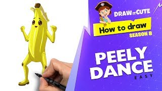 How to draw Peely Dance easy | Fortnite Season 8 tutorial